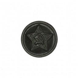 Small button for field uniforms, plastic