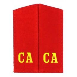 """CA"" (""SA"") Red epaulets"
