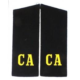 """Pagony """"CA"""" (""""SA"""") czarne"""
