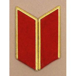 Collar tabs of Land Forces (light) for official uniforms