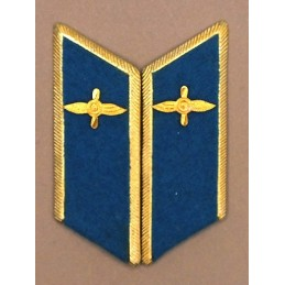 Collar tabs of Aviation for official uniforms with tabs