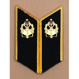 Collar tabs of Engineers for official uniforms with tabs