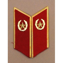 Collar tabs of Motorized Infantry for official uniforms with tabs