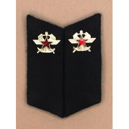 Collar tabs of Trains Troops for ordinary uniforms, with tabs