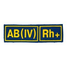 Naszywka AB (IV) Rh+ niebieska z żółtym