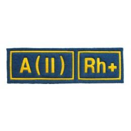 A (II) RH+ tab, blue with yellow