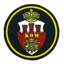 """Naszywka """"Krakowski Okręg Wojskowy"""", zielone tło"""