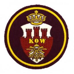 """Naszywka """"Krakowski Okręg Wojskowy"""", bordowe tło"""