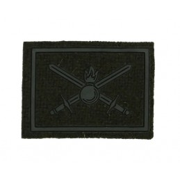Collar tabs of Land Forces, on velcro, field, olive background