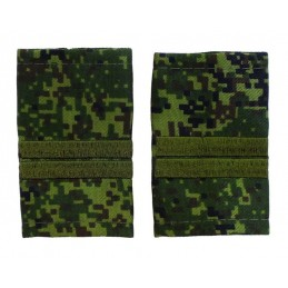 Epaulets for junior sergeant MVD, camouflage - Digital Flora