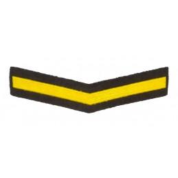 Naszywka dla żołnierzy zawodowych - 1 rok służby, zielona