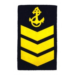Stripe for participants in a course of naval academies - 3 course, red