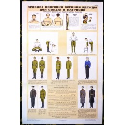Poster: Ways and measuring area at the assortment of uniforms