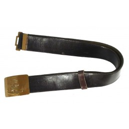 Imitation leather belt with navy buckle