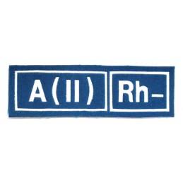 Naszywka A (II) Rh- niebieska
