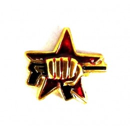 """Miniature badge - """"Fist with AK"""""""