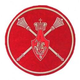 """Naszywka """"Aparat Ministerstwa Obrony"""" - rodzaj wojsk, nowy wzór"""