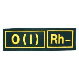 Naszywka 0 (I) Rh- zielona