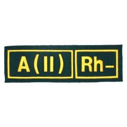 A (II) RH- tab, green