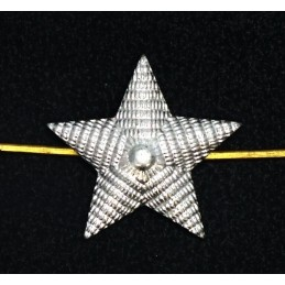 Large stars on the epaulets, senior officers, silver