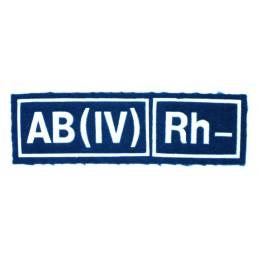 Naszywka AB (IV) Rh- niebieska