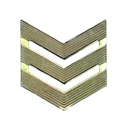 Rank badge, SGT, field uniform
