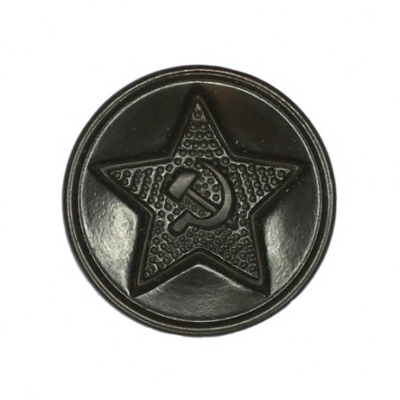 Large button for field uniforms, plastic