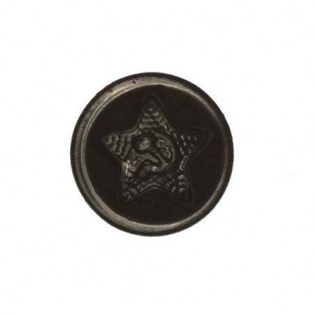 Small button for gimnastiorka uniforms, steel