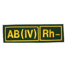 Naszywka AB (IV) Rh- zielona