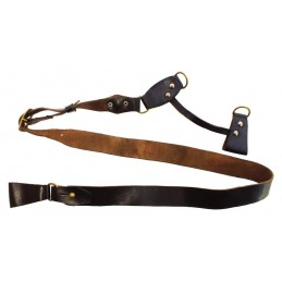 Coalition strap for officers belt, brown, with handles to the holster
