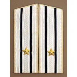 Epaulets for captain III rank, for use with white summer garrison uniform