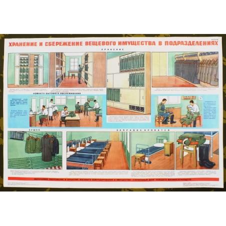 Plakat: Przechowywanie wyposażenia i porządek w pododdziałach