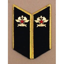 Patki do mundurów wyjściowych Wojsk Kolejowych z korpusówkami