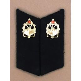 Patki do powszednich mundurów Wojsk Inżynieryjnych z korpusówkami