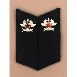 Patki do powszednich mundurów Wojsk Kolejowych z korpusówkami