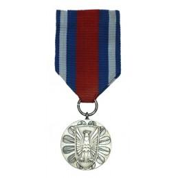 """Medal """"Za Zasługi w Ochronie Porządku Publicznego"""", srebrny"""