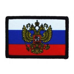 """Naszywka """"Rosja z herbem"""", z rzepem"""
