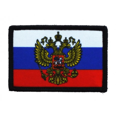 """Patch """"Russia with emblem"""", with velcro"""