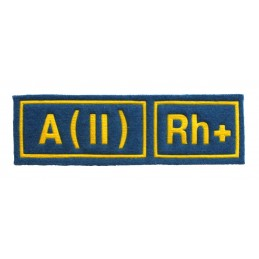 A (II) RH+ tab, blue with...