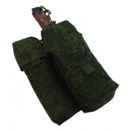 TI-P-2AK-SSP Pouch for 2 AK magazines, smoke grenade and knife, right, Digital Flora
