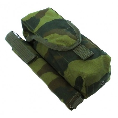 TI-P-2AK-ROPP Pouch for 2 AK magazines and signal flare, right, Flora