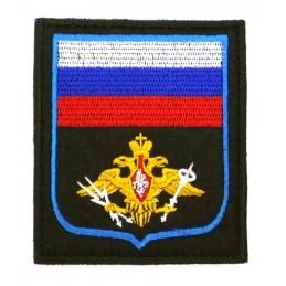 """Naszywka """"Rosja - Wojska Kosmiczne"""", haftowana, z rzepem, PR300"""