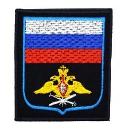 """Naszywka """"Rosja - Powietrzno-Kosmiczne Wojska"""", haftowana, z rzepem, PR300"""