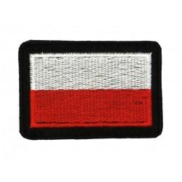 Polska flaga - naszywka z rzepem