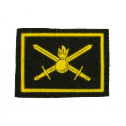 Collar tabs of Land Forces, on velcro, garrison, olive background