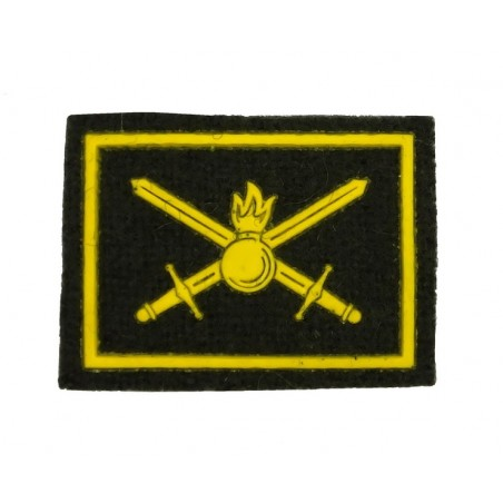 Collar tabs of Land Forces, on velcro, garrison, PVC, olive background