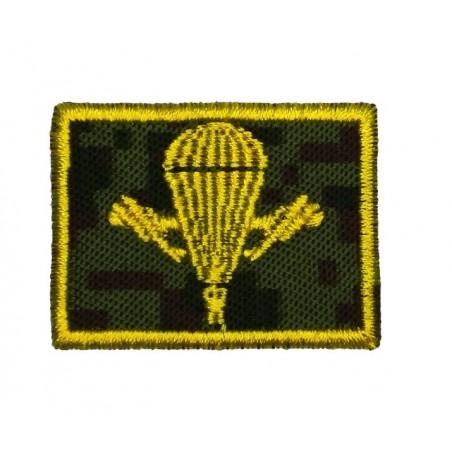Collar tabs of VDV, on velcro, garrison, Digital Flora background, embroided