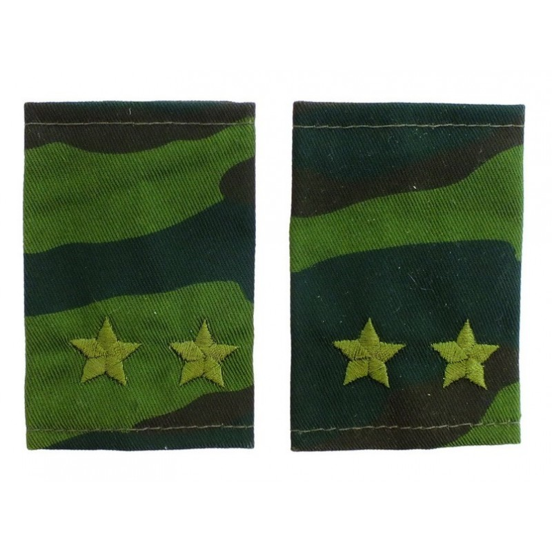 Epaulets for lt. colonel, camouflage - Flora