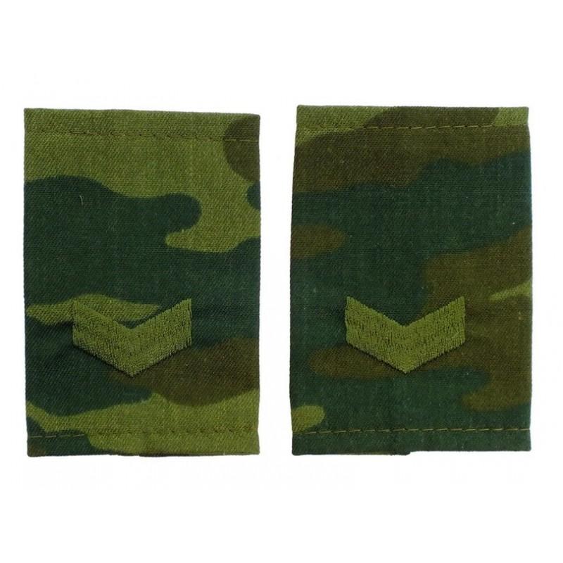 Epaulets for senior sergeant, camouflage - Flora
