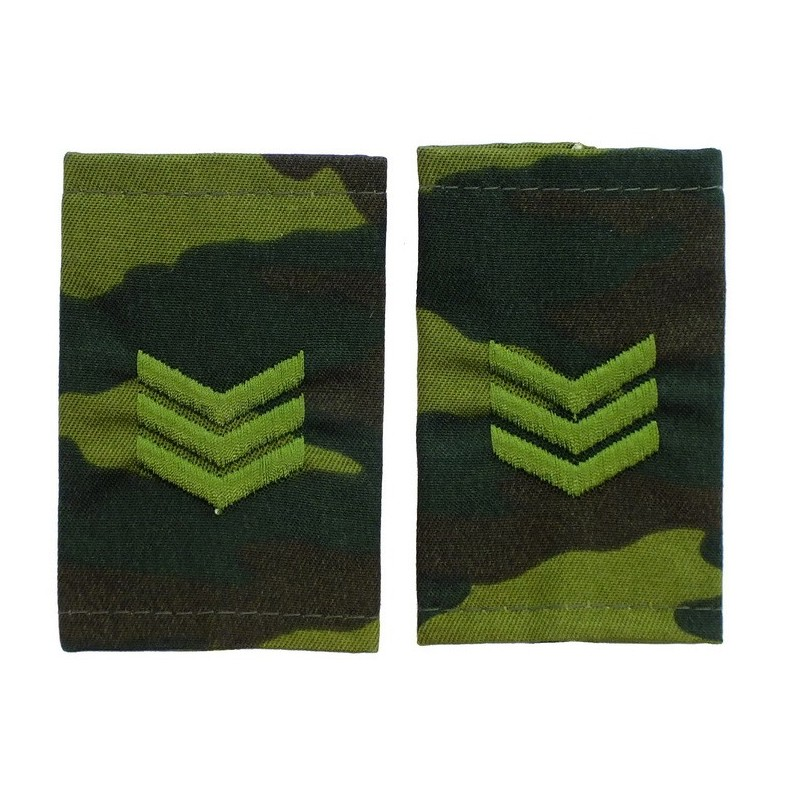 Epaulets for sergeant, camouflage - Flora